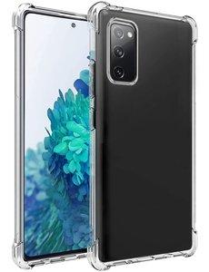 Ntech Samsung Galaxy S20 FE hoesje siliconen shock proof case - S20 FE transparant TPU hoesje