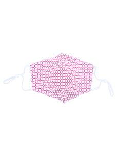 Merkloos Mondkapje wasbaar - verstelbaar - 100% Katoen met ruimte voor Filter - Roze/Wit
