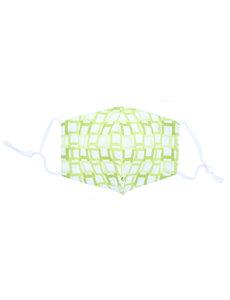 Merkloos Mondkapje wasbaar - verstelbaar - 100% Katoen met ruimte voor Filter - Groen