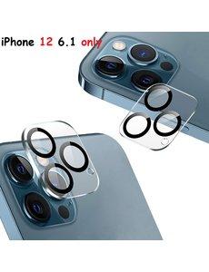 Ntech IPhone 12 Lens protector / iPhone 12 Camera Lens tempered glass - Zwart / Clear