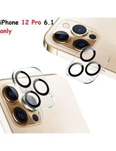 Ntech iPhone 12 Pro Lens protector / iPhone 12 Pro Camera Lens tempered glass - Zwart / Clear