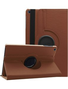 Ntech Samsung Galaxy Tab A7 Hoes 10.4 (2020) cover - Samsung Galaxy Tab A7 360 draaibare case - Bruin