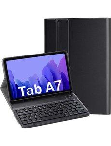 Ntech Samsung Galaxy Tab A7 Toetsenbord Hoes 10.4 (2020) Bluetooth Keyboard hoesje voor Tab A7 2020 - Zwart