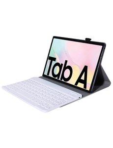 Ntech Samsung Galaxy Tab A7 Toetsenbord Hoes 10.4 (2020) Bluetooth Keyboard hoesje voor Tab A7 2020 - Goud