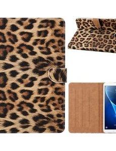 Ntech Samsung Galaxy Tab A7 Hoes 10.4 (2020) Luipaard Design Cover Booktype Kunstleer Hoesje