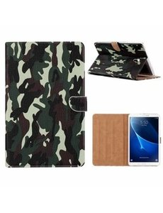 Ntech Samsung Galaxy Tab A7 (2020) Hoes -10.4 inch - Booktype case cover - Camouflage