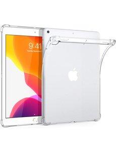 Ntech Apple iPad 10.2 (2019 / 2020) Hoes, siliconen Shockproof Hoesje met Schokbestendig Transparant cover