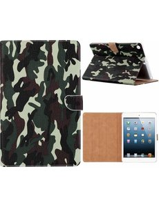 Ntech iPad Air 2020 Hoes - Bookcase Camouflage Design - Groen
