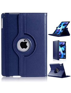 Ntech iPad Air 2020 Hoes - 360 Graden Draaibare bookcase met standaard - Donkerblauw