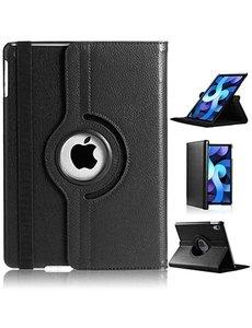 Ntech iPad Air 2020 Hoes - 360 Graden Draaibare bookcase met standaard - Zwart