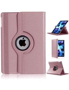 Ntech iPad Air 2020 Hoes - 360 Graden Draaibare bookcase met standaard - Rose Goud