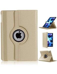 Ntech iPad Air 2020 Hoes - 360 Graden Draaibare bookcase met standaard - Goud