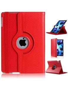 Ntech iPad Air 2020 Hoes - 360 Graden Draaibare bookcase met standaard - Rood