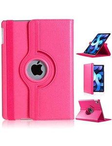 Ntech iPad Air 2020 Hoes - 360 Graden Draaibare bookcase met standaard - Pink