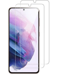 Ntech Samsung Galaxy S21 Screenprotector Tempered Glass - 2 Stuks