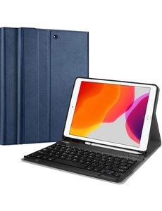 Ntech Apple iPad 10.2 (2019 / 2020) - Smart Toetsenbord Hoes - Blauw