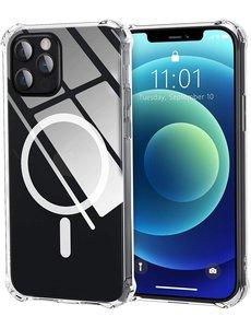 Ntech iPhone 12 Pro Max Hoesje met Magsafe - iPhone 12 Pro Max MagSafe hoesje case - MagSafe cover - Transparant