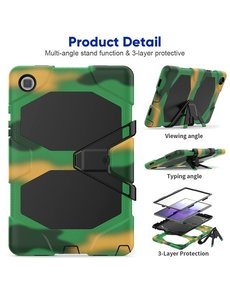 Ntech Extreme protectie Army Backcover hoes voor Samsung Galaxy Tab A7 Hoes case 10.4 (2020) T500 - Camouflage Groen