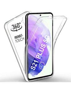 Ntech Samsung Galaxy S21 Plus Hoesje Dual TPU Case hoesje - Samsung Galaxy S21 Plus 360° Cover 2 in 1 Case ( Voor en Achter) Transparant