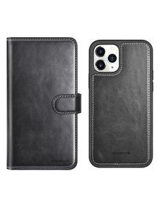 Ntech iPhone 12 Mini hoesje Luxe 2 in 1 bookcase - Apple iPhone 12 Mini Bookcase hoesje - iPhone 12 Mini wallet case hoesje iPhone 12 Mini wallet case - Kunstleer - met Pasjeshouder - Zwart