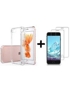 Ntech iPhone SE 2020 Hoesje Anti Shock - Apple iPhone 7, 8 Backcover hoesje + 2x Glazen Screenprotector