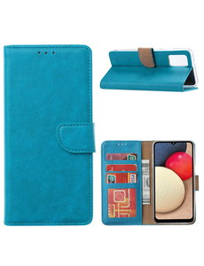 Ntech Samsung Galaxy A02s Hoesje - Samsung A02s bookcase wallet - Turquoise