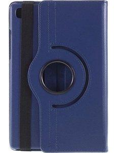Merkloos Samsung Galaxy Tab A7 (2020) 10.4 inch 360 graden draaibare hoes (donkerblauw)