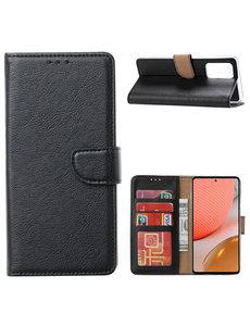 Ntech Samsung A32 Hoesje portemonnee hoes - Samsung Galaxy A32 5G bookcase wallet cover - Zwart