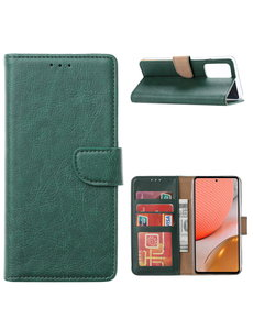 Ntech Samsung A32 Hoesje portemonnee hoes - Samsung Galaxy A32 5G bookcase wallet cover - Groen