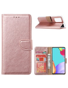 Ntech Samsung A32 4G hoesje bookcase Rose Goud - Samsung Galaxy A32 4G portemonnee book case hoes cover