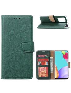 Ntech Samsung A32 4G hoesje bookcase Groen - Samsung Galaxy A32 4G portemonnee book case hoes cover