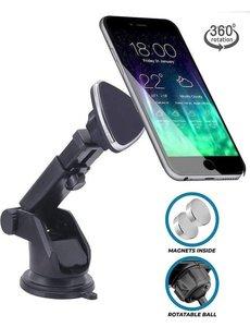 Merkloos Magneet Auto Telefoon Houder met Zuignap voor de Voorruit of Dashboard - iPhone - Samsung - Nokia - Huawei