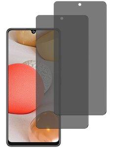 Ntech Galaxy A42 5G Privacy Glass - Samsung A42 Privacy Screen - Privacy Glass Galaxy A42 - Privacy Screenprotector Galaxy A42 - Privacy Screenprotector - 2 pack
