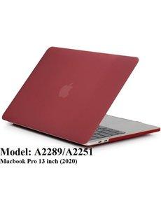 Merkloos Macbook Case voor Macbook Pro 13 inch (2020) A2289/A2251 - Laptop Cover - Matte Wijnrood
