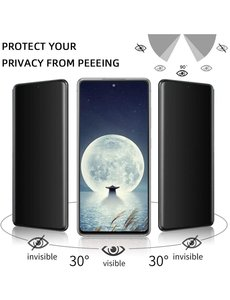 Ntech Samsung S21 5G Screenprotector  Anti Spy tempered glass - Galaxy S21 5G Privacy Screenprotector