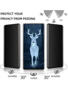 Ntech Samsung S21 Plus Screenprotector  Anti Spy tempered glass - Galaxy S21 Plus Privacy Screenprotector