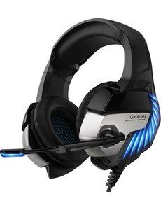 ONIKUMA ONIKUMA K5 PRO - Gaming headset - Blauw Zwart - PS5 + PS4 + PC + Xbox One + Nintendo Switch