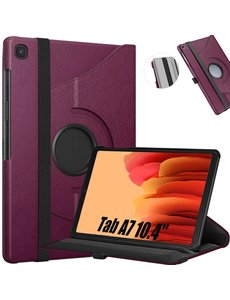 Ntech Samsung Tab A7 10.4 Hoes bookcase (2020) - Samsung Galaxy Tab A7 360 draaibare Hoesje - Paars