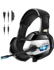 ONIKUMA K5 Gaming Headset met Microfoon voor PS4 PS5 Xbox One Headset met Noise Cancelling Mic 7.1 Surround Bass Over Ear Gaming Headphones voor Playstation 4 5 PC Mac Laptop Headset