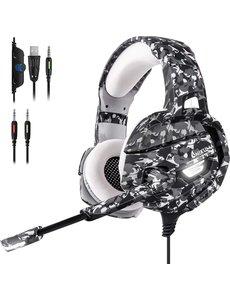ONIKUMA ONIKUMA K5 - Gaming headset - Camouflage Grijs - PS5 + PS4 + PC + Xbox One + Nintendo Switch