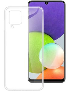 Ntech Samsung  A22 5G Hoesje Transparant silicone hoesje  / Galaxy A22 5G hoesje backcover Clear TPU Case