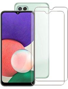Ntech Screenprotector Samsung A22 5G - Samsung A22 5G Screenprotector Glas - Galaxy A22 5G Screen Protector - 2 stuks
