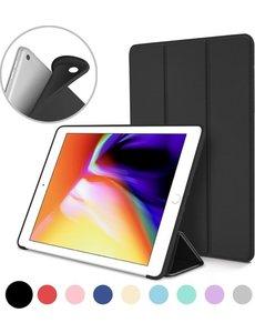 merkloos iPad (2018) (2017) 9.7 Inch Case, Ultra Slim Lightweight Smart hoesje met Trifold Cover Stand Zwart