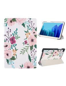 Ntech iPad 2020 hoes - iPad hoes 2019 / iPad 2021 Hoes - Tri-Fold - iPad 10.2 Smart Cover - iPad Hoes - Tablethoes -iPad Case - Perzik Bloesem iPad Hoes