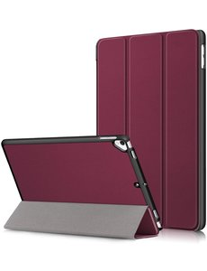 Ntech iPad Hoes 2017 - iPad 2018 Hoes Wine Rood 9.7 Inch - iPad 2018 Hoes 9.7 - iPad 2017 Hoes smart cover Trifold  - Ntech