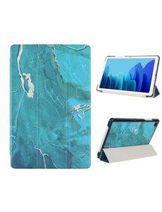 Ntech iPad Hoes 2017 - iPad 2018 Hoes Marmer Groen 9.7 Inch - iPad 2018 Hoes 9.7 - iPad 2017 Hoes smart cover Trifold  - Ntech