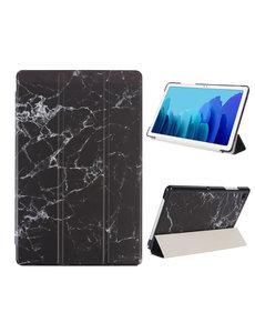 Ntech iPad Hoes 2017 - iPad 2018 Hoes Marmer Zwart 9.7 Inch - iPad 2018 Hoes 9.7 - iPad 2017 Hoes smart cover Trifold  - Ntech