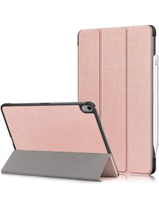 Ntech iPad Air 2020 Hoes - iPad hoes 2020 - iPad Air 4 10.9 Bookcase - Trifold Smart hoesje Rose Goud