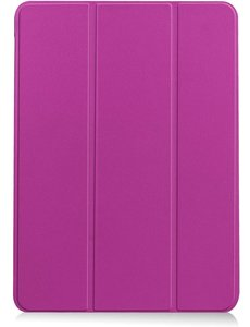 Ntech iPad Air 2020 Hoes - iPad hoes 2020 - iPad Air 4 10.9 Bookcase - Trifold Smart hoesje Paars