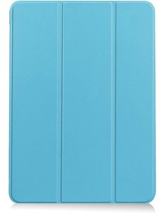 Ntech iPad Air 2020 Hoes - iPad hoes 2020 - iPad Air 4 10.9 Bookcase - Trifold Smart hoesje licht Blauw